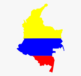 Colombian Flag with Country Outline Nov