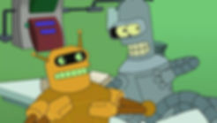 Futurama Robots Calculon and Bender - De