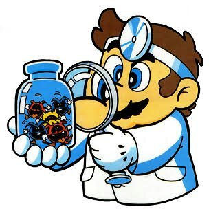 Dr. Mario with Viruses in Jar Feb 25 202