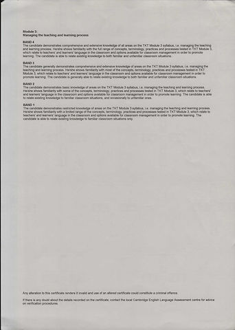 TKT Certificate - Module 3_- Dec 18 2013