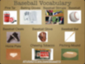 A1-A2 Vocab Bank - Baseball Vocabulary 2