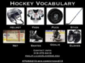 A1-A2 Vocab Bank - Hockey Vocabulary 200