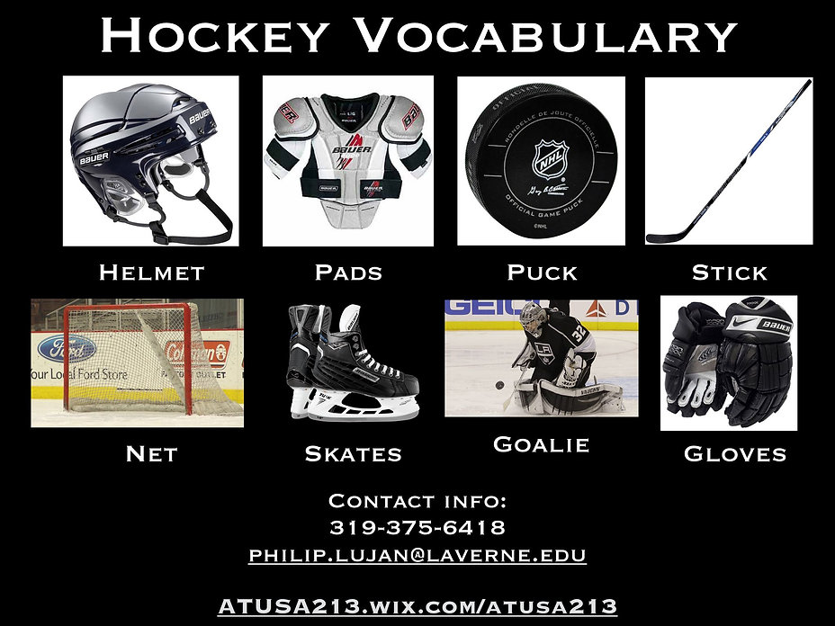 A1-A2 Vocab Bank - Hockey Vocabulary 200