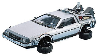 Delorean Car Time Machine Back to the Fu