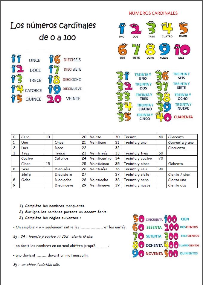 A1-A2 Esp - Banco Vocab - los-numeros-ca