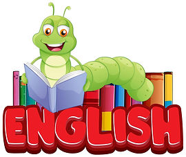 english-with-bookworm-reading-book-vecto