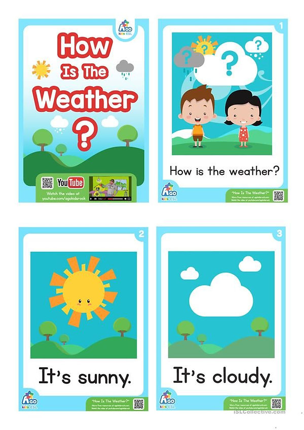 A1-A2 - ESL for Kids - Weather - 1- Sept