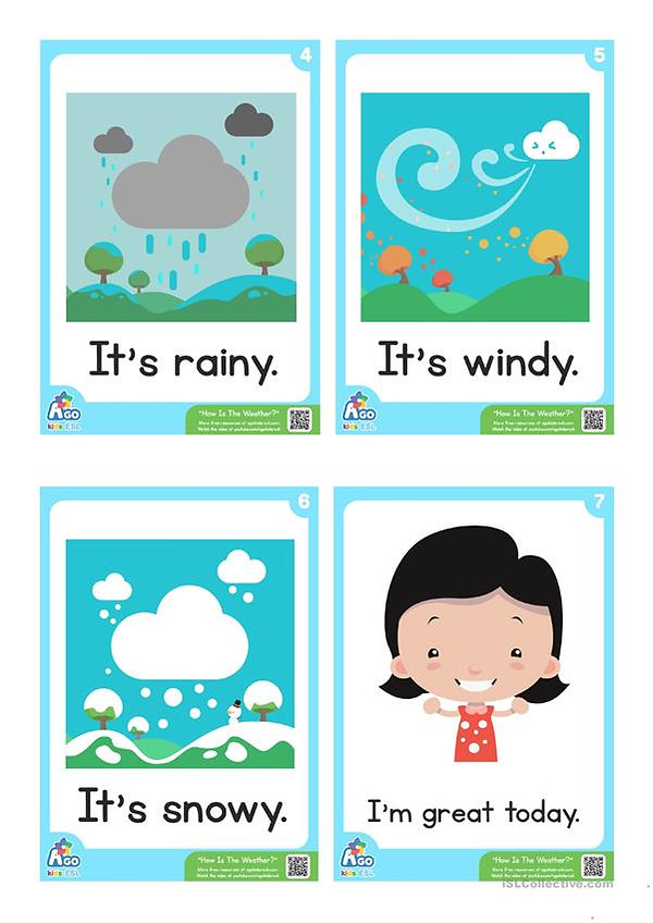 A1-A2 ESL For Kids - Weather 3 - Septemb
