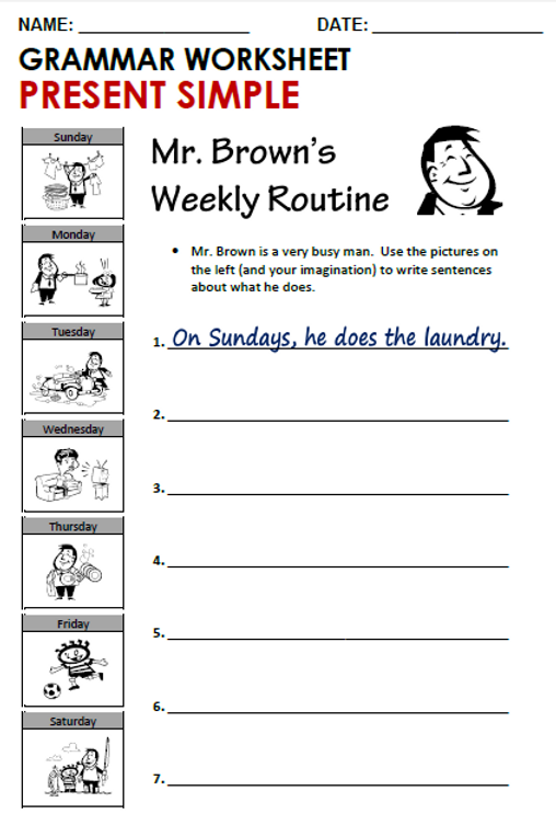 A1-A2 --- Worksheet 2 - Grammar --- Pres