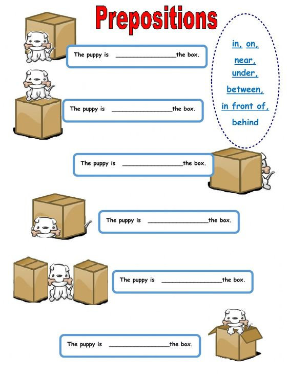Prepositions of Place Worksheet 1 - Marc