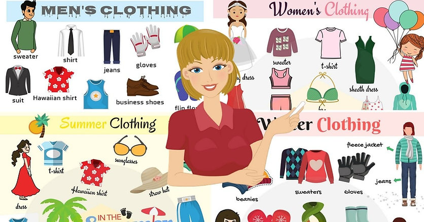 A1-A2 ESL For Kids - Clothes - Vocab - S