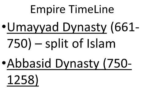 Abbasid Umayyad Empire Timeline - Novemb