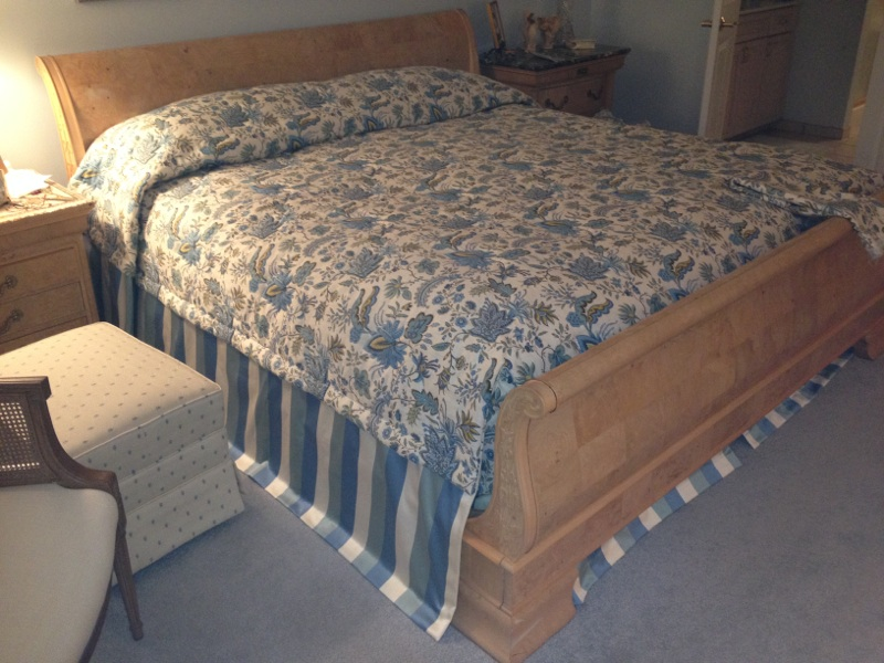 Custom bedspread w/attached bedskirt