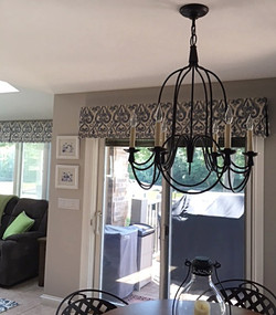Custom box pleated valances
