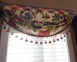 Custom valance w/beaded trim