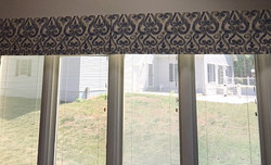 Custom box pleated valance