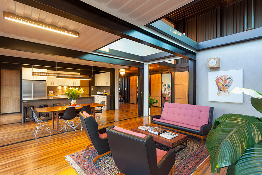 Open-Plan-Living-Dining-Space-Shipping-Container-Home-Brisbane-Queensland