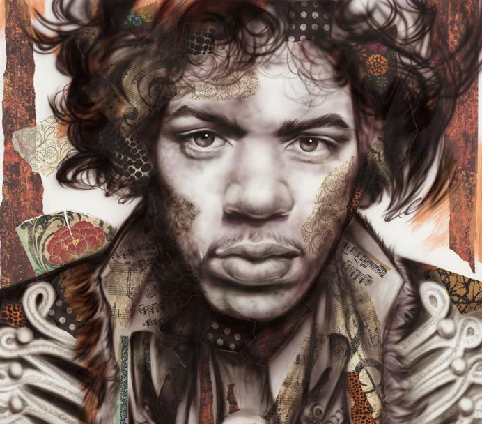 Jimi Hendrix Bronze