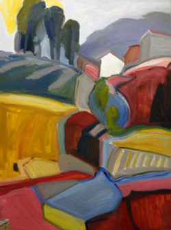 House on the Hill 36x48 sm file