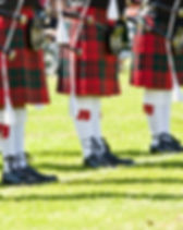 Detail of original Scottish kilts during