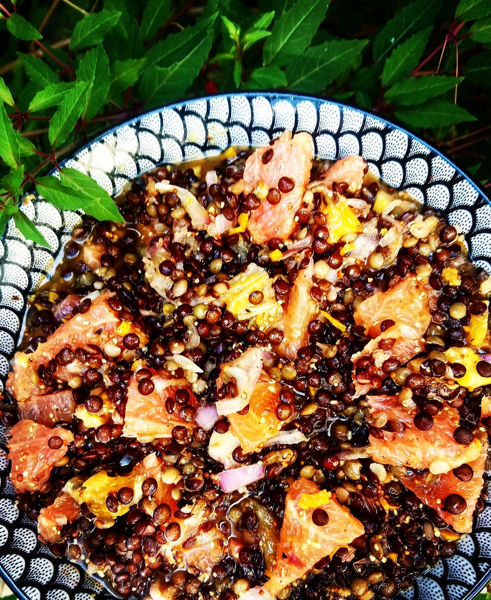 Recette salade de lentilles aux agrumes / Les Petites Menteuses / Blog Culinaire
