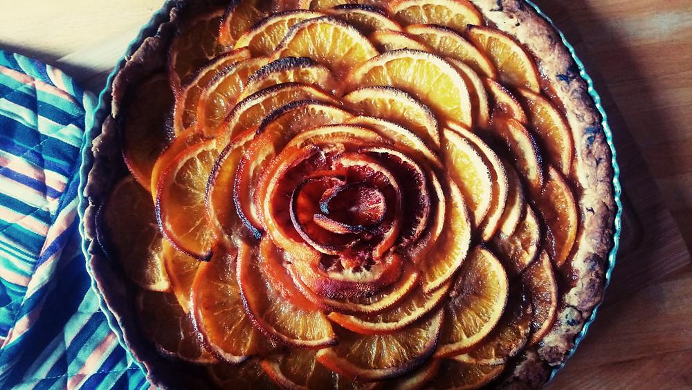Tarte à l'orange / Recette / Blog Culinaire Les Petites Menteuses