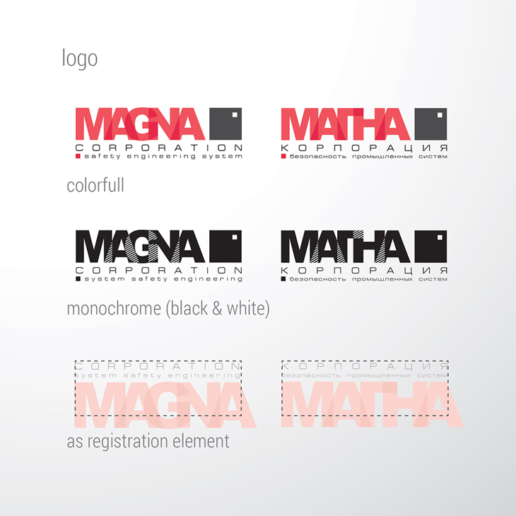 MAGNA, дизайн логотипа