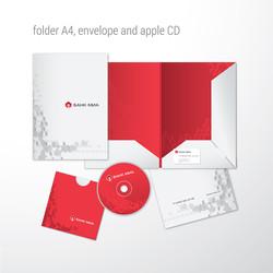 папка, диск и конверт, банк МИА