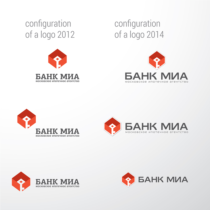 банк МИА, редизайн логотипа