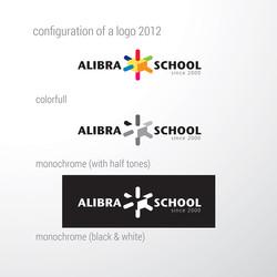 редизайн логотипа, ALIBRA SCHOOL