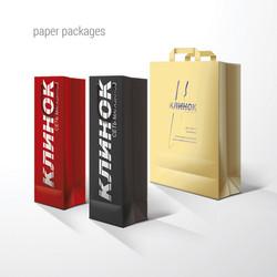 пакет бумажный, КЛИНОК