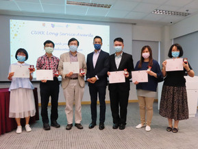 Colleagues receiving Long Service Award