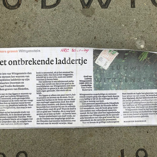 Newspaper clipping about LW's grave