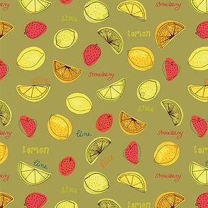 Lemons & Limes on green