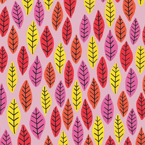 Rainbow Bright Leaves: Pale Pink
