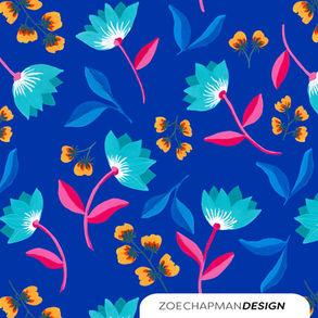 Blue Tulip Floral