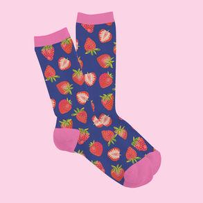 Summer Strawberry Sock Mock Up