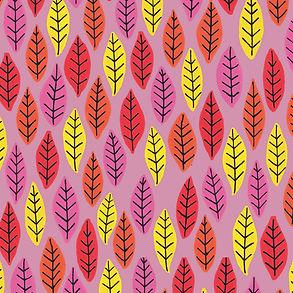 Rainbow Bright Leaves: Pink