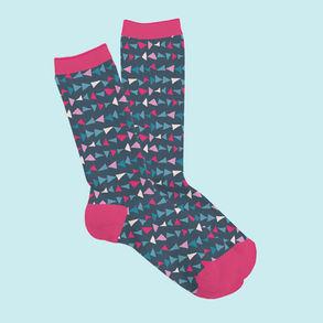 Triangle Co-ordinate Sock Mock Up