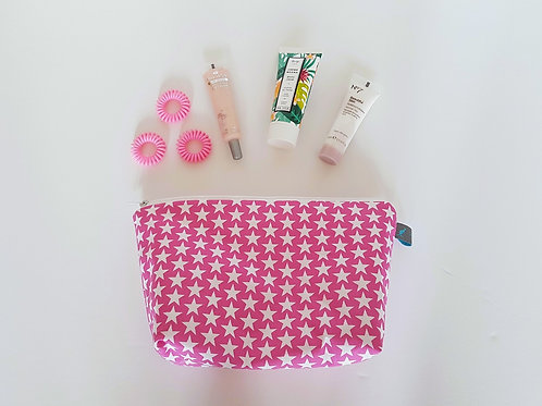 Stars Cosmetic Bag in Pink