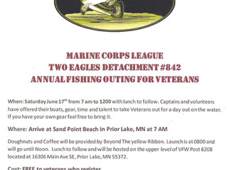 Veterans Fishing Event hosted by Two Eagles Detachment in Prior Lake