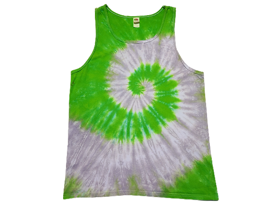 Adult Size Large Tank Top with Two Colors in Two Spirals