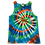 Thumbnail: Adult Size Medium Tank Top with Four Color Classic Spiral