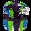 Thumbnail: Purple, Bright green and Bright Blue Ball Cap