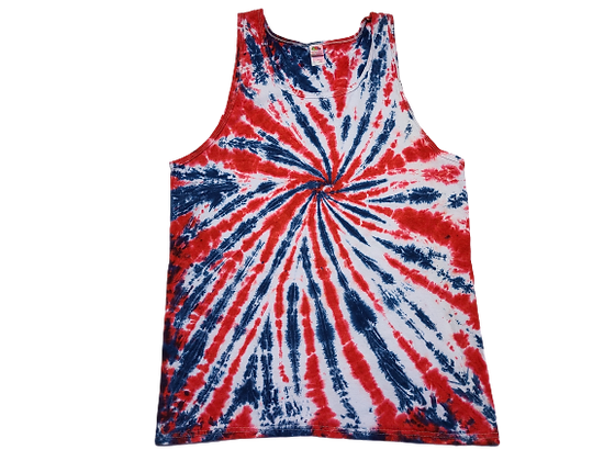 Make A Partial Saturation, Burst Spiral Pattern Tank Top
