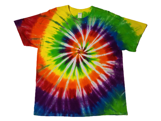 Make A Six Color Rainbow Classic Spiral Pattern Shirt