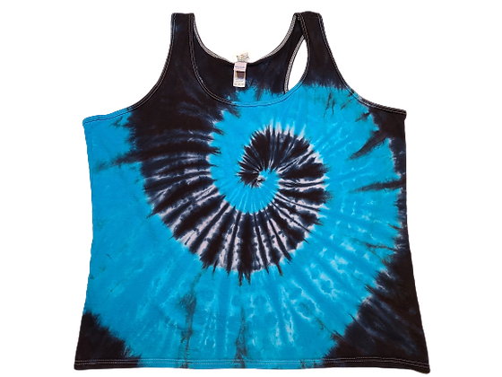 Woman's 2XL Racerback Tank with Two Spirals