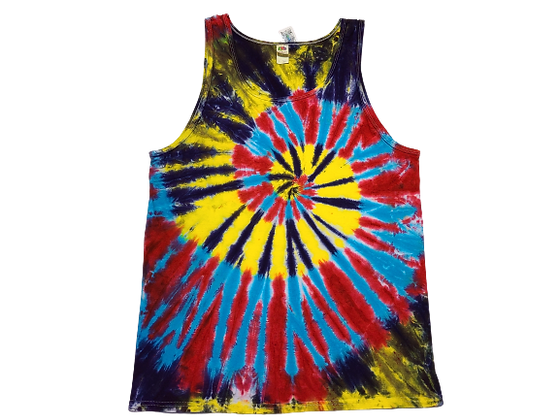 Adult Size Large Tank Top with Four Colors in Two Spirals