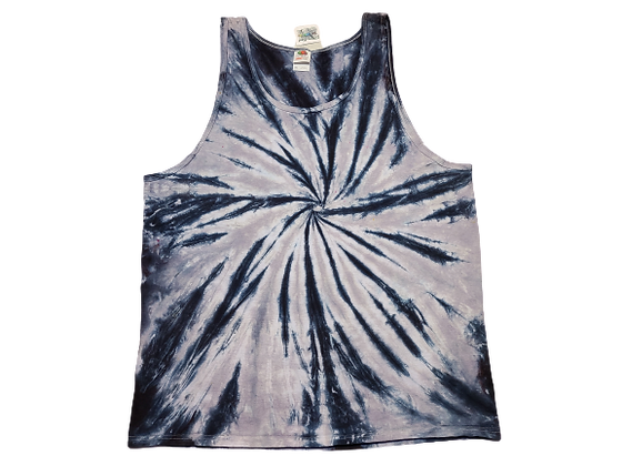 Adult Size 2XL Tank Top withTwoColor Burst Spiral