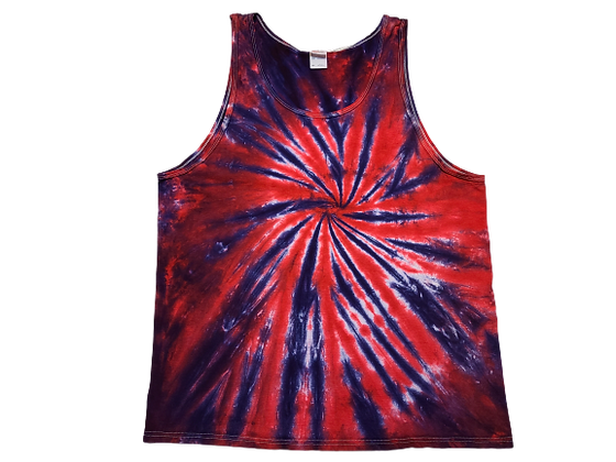 Adult Size 2XL Tank Top with Two Color Burst Spiral